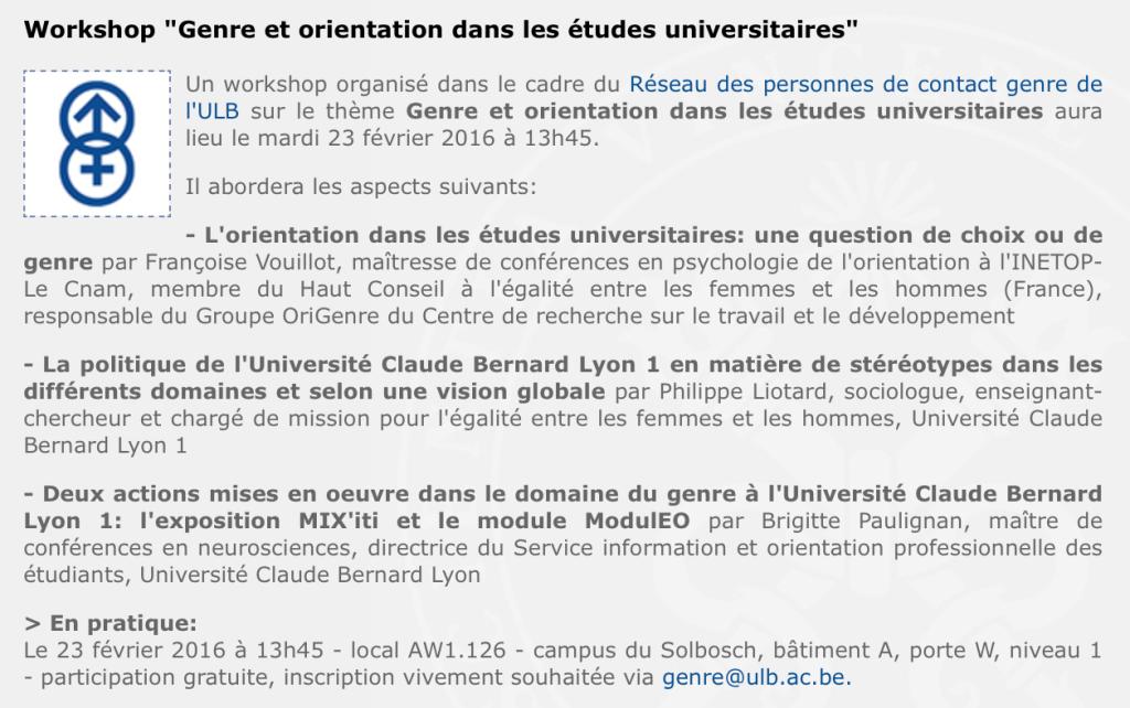 Workshop-ULB-Genre et orientation dans les études universitaires-2016_02_23