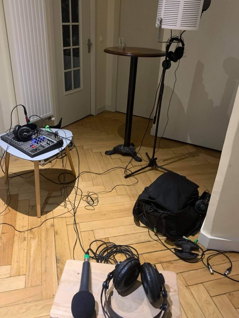 Coulisses enregistrement du teaser de notre podcast